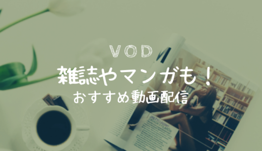 【VOD比較】雑誌も読み放題!?電子書籍が読める動画配信サービス