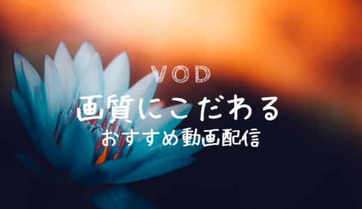 【VOD比較】高画質4KやフルHD対応!画質で選ぶ動画配信サービス